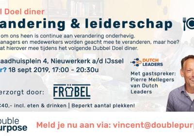 DubbelDoelDiner-Verandering & Leiderschap